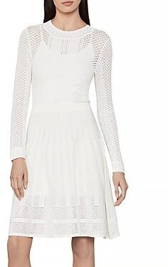 BCBGMAXAZRIA Pointelle Sweater Dress