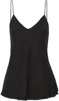 RtA Madeline plissé silk-satin camisole