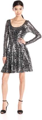 Plenty by Tracy Reese Dresses Dresses Women's Audriana Long Sleeve Scoop Fit and Flare Dress