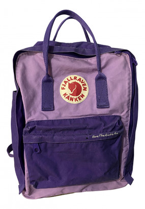 Fjallraven Purple Cloth Backpacks