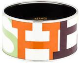 Hermes Extra Wide Printed Enamel Bracelet