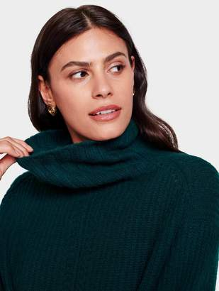 White + Warren Recycled Cashmere Rib Turtleneck