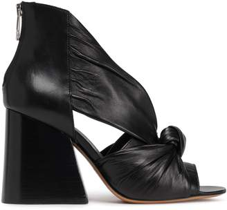 Maison Margiela Knotted Cutout Leather Sandals