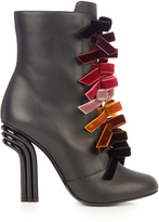 Marco De Vincenzo Velvet-bows and leather ankle boots