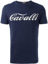 Roberto Cavalli vintage effect logo t-shirt