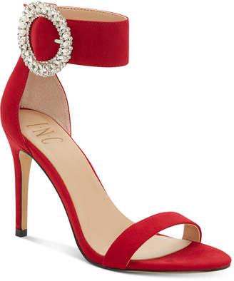 INC International Concepts Inc Women Reyna Bling Buckle High-Heel Evening Sandals, Women Shoes