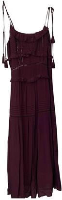 Sea New York Burgundy Silk Dresses