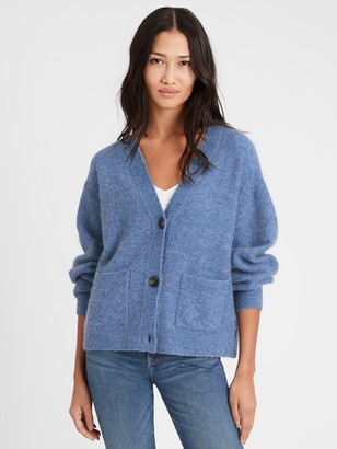 Banana Republic Oversized Blouson-Sleeve Cardigan Sweater