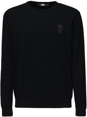 Karl Lagerfeld Paris 14gg K.l. Patch Cotton Knit Sweater