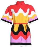 Emilio Pucci Belted Printed Jersey Playsuit
