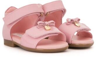 Dolce & Gabbana Heart-Charm Bow Sandals