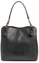 Tory Burch 'Harper' Leather Tote - Black
