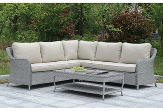 Jaren Patio Sectional with Cushions Red Barrel Studio