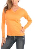 Le Mieux Tangerine V-Neck Top
