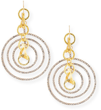 Devon Leigh Crystal Multi-Hoop Earrings