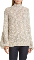 Co Balloon Sleeve Merino Wool Blend Sweater
