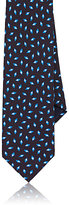 Barneys New York Men's Rhombus-Pattern Silk Twill Necktie