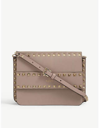 Valentino Rowstud leather clutch