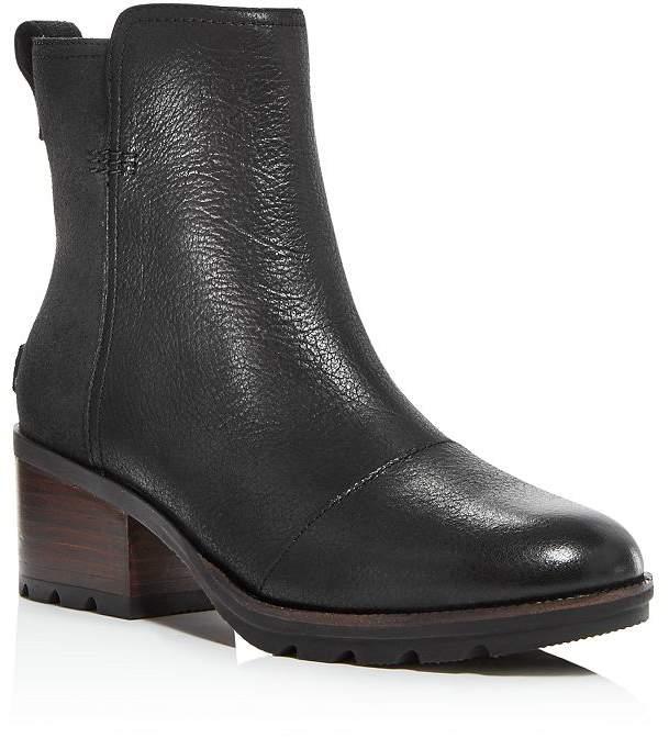 Sorel Women's Cate Waterproof Block-Heel Booties