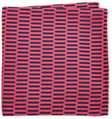 Duchamp Vital Geo Pattern Silk Pocket Square