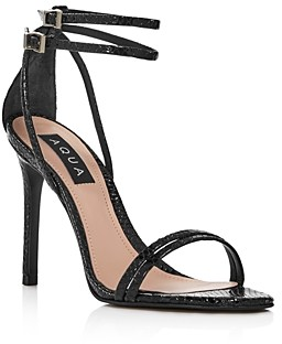 Aqua Women's Silvana High-Heel Strappy Sandals - 100% Exclusive