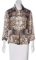 Just Cavalli Silk-Blend Cheetah Print Top