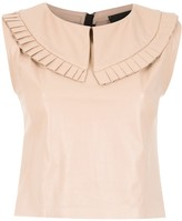 Andrea Bogosian leather blouse