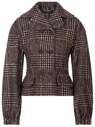 Dolce & Gabbana Wool-Alpaca Plaid Jacket