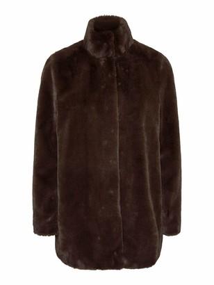 Vero Moda Women's VMTHEA 3/4 Faux Fur Jacket COL Coat
