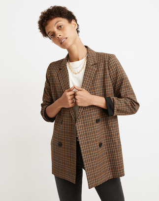 Madewell Caldwell Double-Breasted Blazer in Mandell Plaid