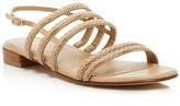 Stuart Weitzman Linedrive Braided Chain Sandals