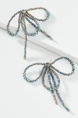 Serefina Beaded Bow Drop Earrings By in Black