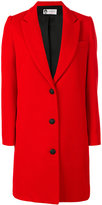 Lanvin single breasted whipcord coat - women - Acetate/Cupro/Wool - 38