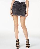 GUESS Stella Cotton Gray Wash Denim Mini Skirt