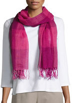 Eileen Fisher Linen and Organic Cotton Fringed Scarf