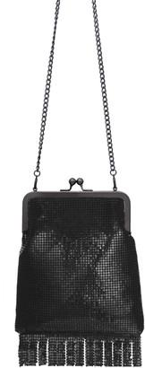 Whiting & Davis Gibson Girl Fringed Crossbody Handbag