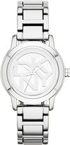 DKNY Watch, Women's Silver Ion-Plated Bracelet 32mm NY8875
