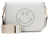 Anya Hindmarch Smiley Ebury Satchel Leather Shoulder Bag