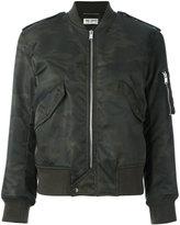 Saint Laurent camouflage print army bomber jacket
