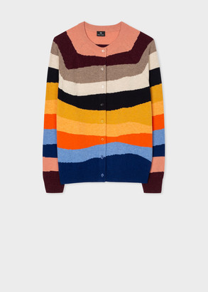 Paul Smith Women's Multi-Colour 'Mountain Stripe' Wool-Blend Cardigan