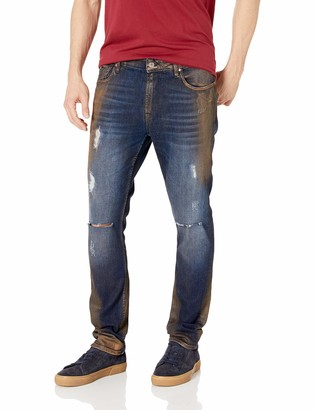 GUESS Men's Skinny Basic Moto Jean