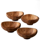 Nambe Butterfly Set of 4 Salad Bowls