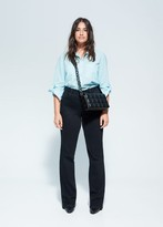 MANGO Pockets swiss tulle shirt