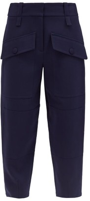 Stella McCartney Cecilia Flap-pocket Wool Trousers - Navy
