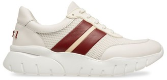Bally Web Athletic Leather Mix Media Chunky Sneakers