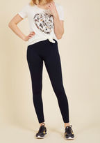 ModCloth Crazy for Cozy Fleece-Lined Leggings in Navy in L/XL