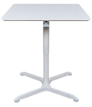"""Square Pneumatic Height Adjustable Cafe Table Offex Size: 42.4"""" H x 32"""" L x 32"""" W"""