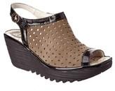 Fly London Yile Leather Wedge Sandal.