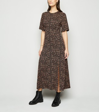 New Look Ditsy Floral Empire Midi Dress
