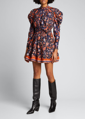Ulla Johnson Naima Floral Flare Mini Dress